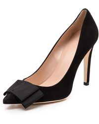 Club Monaco Jamie Bow Pumps  Black - Lyst