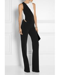 Mugler - Two-tone Cutout Stretch-crepe Jumpsuit - Lyst