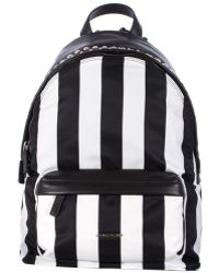 Givenchy Leather And Nylon Strips Small Backpack black - Lyst