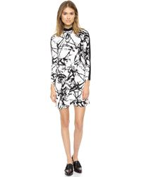 A.L.C. Isley Dress Whiteblack - Lyst