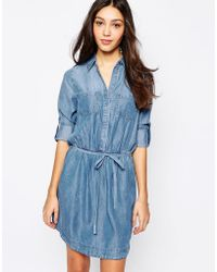 Oasis Denim Shirt Dress blue - Lyst