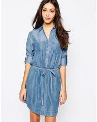 Oasis Denim Shirt Dress - Lyst