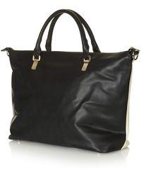 Topshop Womens Soft Slouchy Bag Monochrome - Lyst