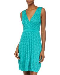 M Missoni Wave-Pattern Sleeveless Dress - Lyst