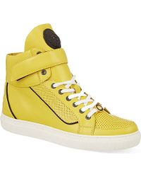 Versus  Leather High-Top Trainers - For Men - Lyst