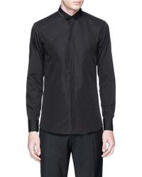 Neil Barrett Zipper Collar Cotton Poplin Shirt black - Lyst