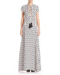 Derek Lam | Printed Silk Tassel Gown | Lyst