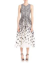 L.K.Bennett - Georgia Printed A-line Dress - Lyst
