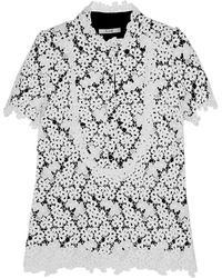 Erdem Deacon Embroidered Lace Top - Lyst