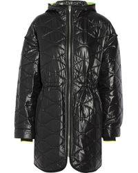 T By Alexander Wang Quilted Shell Jacket - Lyst