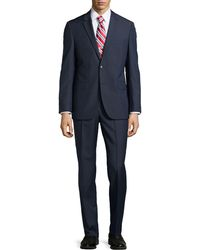 Hugo Boss Grand Central Small Checked Suit - Lyst