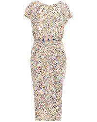 Saloni Apsara Petal-Print Dress - Lyst
