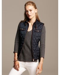 Banana Republic Quilted Vest - Lyst