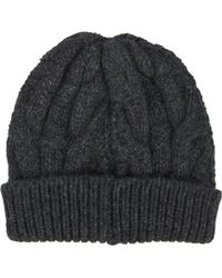 Barneys New York Cable-Knit Beanie black - Lyst