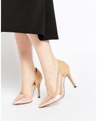 AX Paris - Rhea Metallic Heeled Court Shoes - Lyst