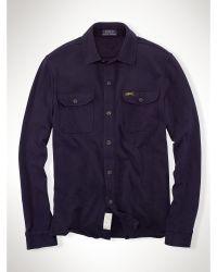 Polo Ralph Lauren Fleece Workshirt - Lyst