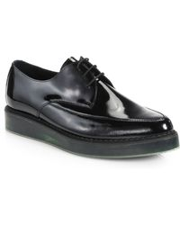 Diesel Kalling Patent Leather Lace-Up Shoes - Lyst