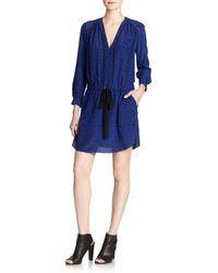 Rebecca Taylor Dot-printed Drawstring-waist Dress - Lyst