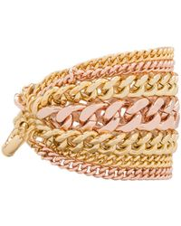 Giles & Brother - Multi Chain Bracelet in Rose - Lyst