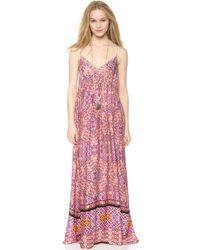 MINKPINK Watercolor Tiles Maxi Dress Multi - Lyst