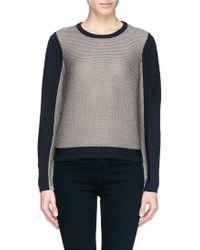 Helmut Lang Colourblock Mix Knit Sweater - Lyst