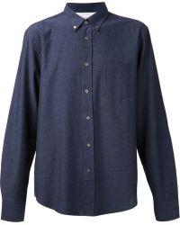 Acne Studios Button Down Denim Shirt - Lyst