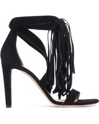 Chloé | Fringed Suede Sandals | Lyst