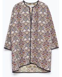 Zara Jacquard Kimono Top multicolor - Lyst