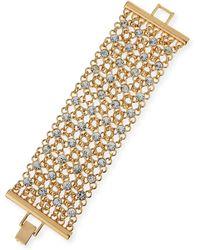 R.j. Graziano - Golden Crystal Mesh Bracelet - Lyst