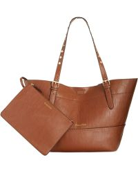 Calvin Klein Reversible Novelty Studded Handle Tote - Lyst