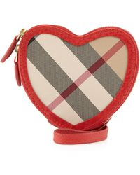 Burberry Heart-shaped Check Crossbody Bag - Lyst