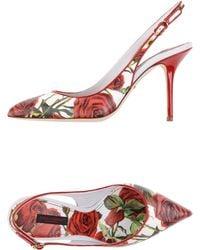 Dolce & Gabbana Pump floral - Lyst