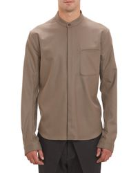 Haider Ackermann Band Collar Shirt - Lyst