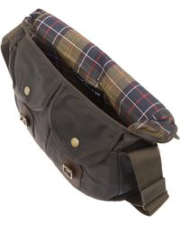 Barbour Olive Tarras Wax Leather Bag - Lyst