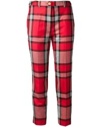Vivienne Westwood Red Label Plaid Trousers - Lyst