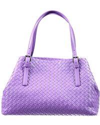 Bottega Veneta Handbag Opened Shopping Intrecciato Small Size purple - Lyst