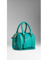 Burberry The Small Alchester In Leather green - Lyst