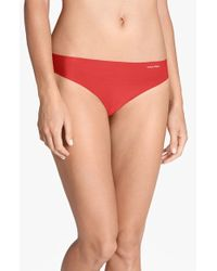 Calvin Klein 'Invisibles' Thong - Lyst