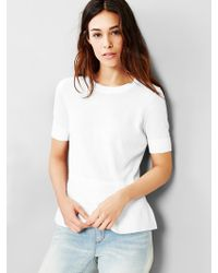 Gap Peplum Sweater Top - Lyst