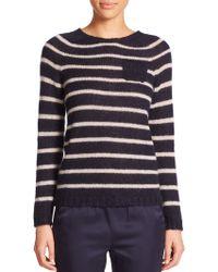 Max Mara Belinda Striped Sweater blue - Lyst