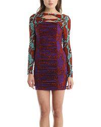 Kelly Wearstler - Pounce Crouching Tiger Print Jersey Dress - Lyst