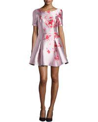 Noir Sachin & Babi Floral-Print A-Line Party Dress - Lyst