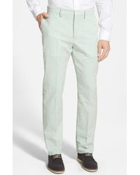 Haspel - Flat Front Seersucker Cotton Trousers - Lyst