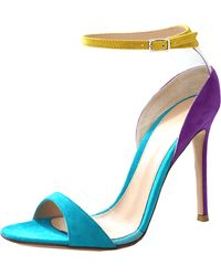 Gianvito Rossi Suede And Plexy Sandal - Lyst
