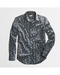 J.Crew Factory Washed Shirt in Floral - Lyst