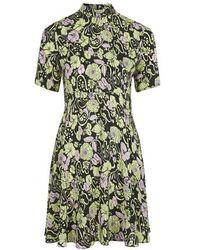 Topshop Kaleidoscope Floral Print Silk Dress By Boutique - Lyst