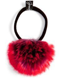 Jennifer Ouellette - Faux Fur Pompom Ponytail Holder - Lyst
