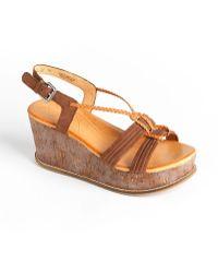 Naya - Nalisha Leather Platform Wedge Sandals - Lyst