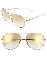 Michael Kors Collection 59Mm Aviator Sunglasses - Lyst