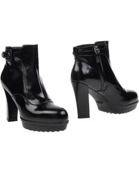Tod's Ankle Boots black - Lyst